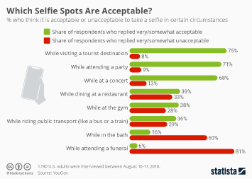 Infographic - places to take selfies