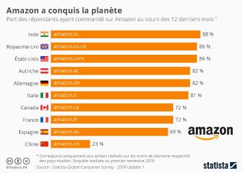 Infographie - taux penetration amazon dans le monde
