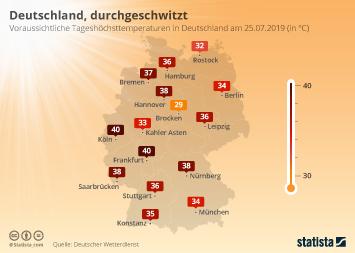 Infografik - Hitze in Deutschland