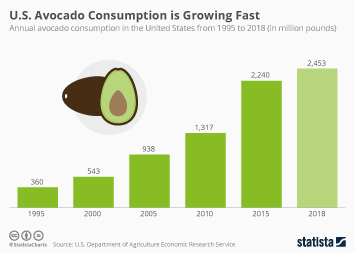 Infographic - U.S. avocado consumption