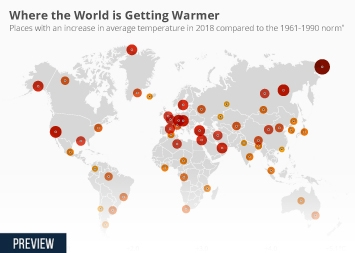 Infographic - Where the World is Getting Warmer
