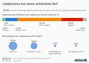 Infografik - Umfrage zu Lobbyismus in der EU