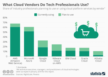 Infographic: What Cloud Vendors Do Tech Professionals Use? | Statista