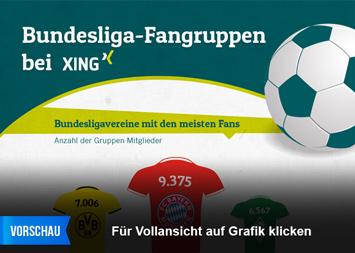 Link zu Bundesliga-Fangruppen bei XING Infografik