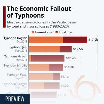 Infographic: The Economic Fallout of Typhoons | Statista