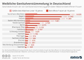 Infografik - Weibliche Genitalverstümmelung in Deutschland