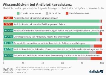 Infografik - Wissen des medizinischen Fachpersonals in Europa zu Antibiotika