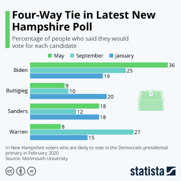 Infographic - Voting intentions for democratic candidates