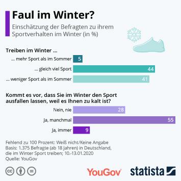 Infografik - Umfrage zum Sportverhalten im Winter