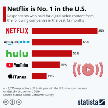 Infographic - netflix dominates digital video content