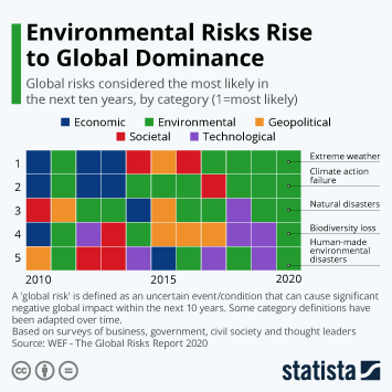Infographic - Global risks considered most likely wef