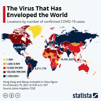 Infographic - Where The Coronavirus Has Been Confirmed