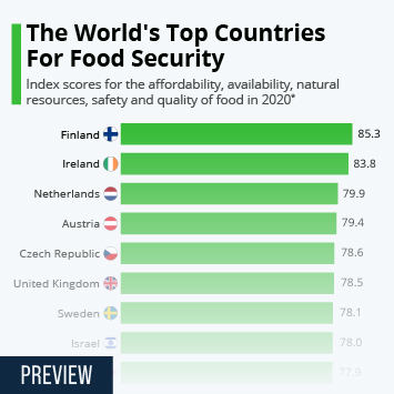Infographic - index scores for the affordability, availability, safety and quality of food