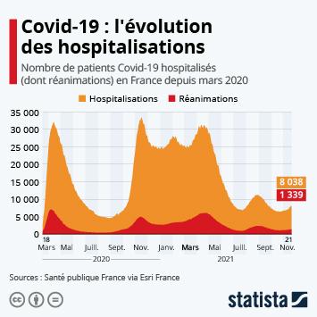 Infographie: Les hôpitaux sous la pression de la troisième vague | Statista