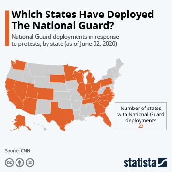 Infographic: Which States Have Deployed The National Guard? | Statista