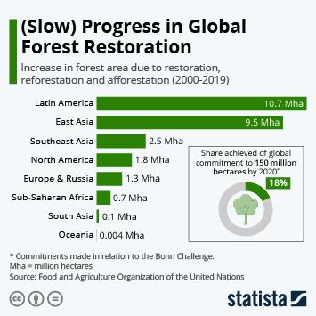 Infographic: (Slow) Progress in Global Forest Restoration | Statista