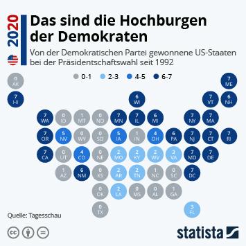 Infografik - Das sind die Hochburgen der Demokraten