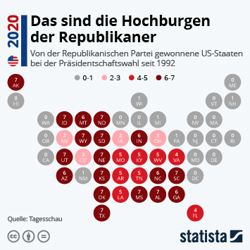 Infografik - Das sind die Hochburgen der Republikaner