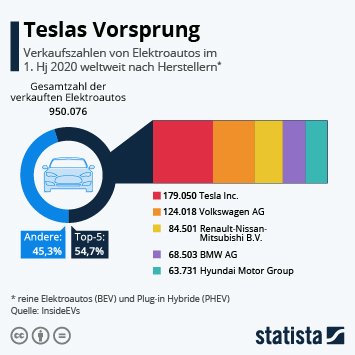 Infografik: Teslas Vorsprung | Statista