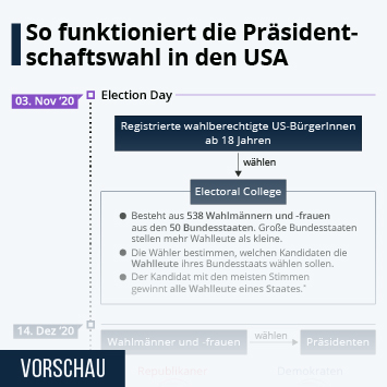 Infografik - So funktioniert die Präsidentschaftswahl in den USA