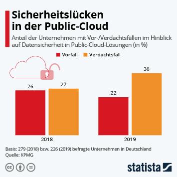 Infografik: Sicherheitslücken in der Public-Cloud | Statista