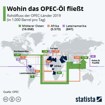 Infografik: Wohin das OPEC-Öl fließt   Statista