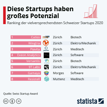 Infografik: Diese Startups haben großes Potenzial | Statista