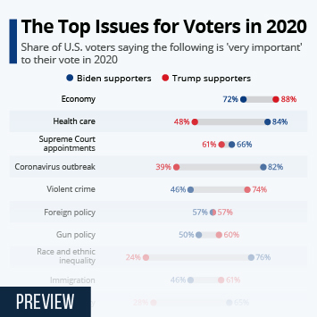 Infographic: The Top Issues for Voters in 2020 | Statista