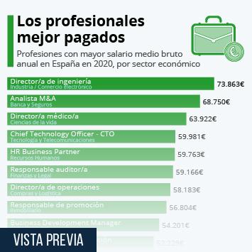 Los profesionales con los sueldos más altos