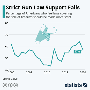 Link to Strict Gun Law Support Falls Infographic