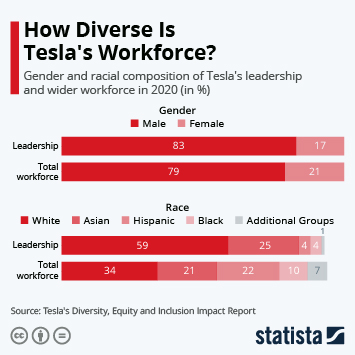 Link to How Diverse Is Tesla's Workforce? Infographic