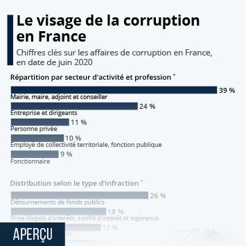Lien vers Le visage de la corruption en France Infographie
