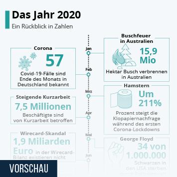 Infografik: Das Jahr 2020   Statista