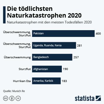 Link zu Die tödlichsten Naturkatastrophen 2020 Infografik