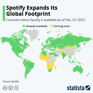 Infographic: Spotify Expands Its Global Footprint | Statista