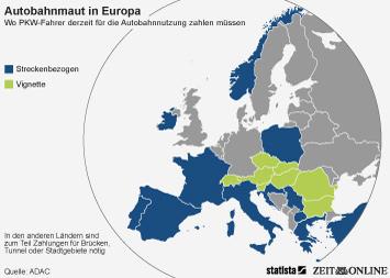 Autobahnmaut in Europa