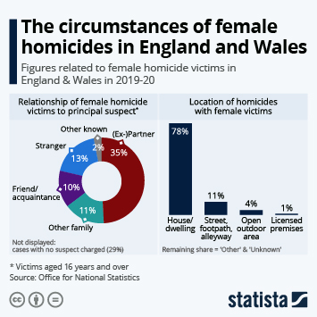 Infographic: The circumstances of female homicides in England and Wales | Statista
