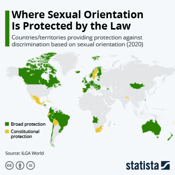 Link to Where Sexual Orientation Is Protected by the Law Infographic