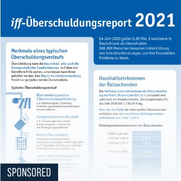 Link zu iff-Überschuldungsreport 2021 Infografik
