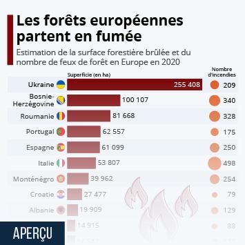 Infographie: Les forêts européennes partent en fumée   Statista