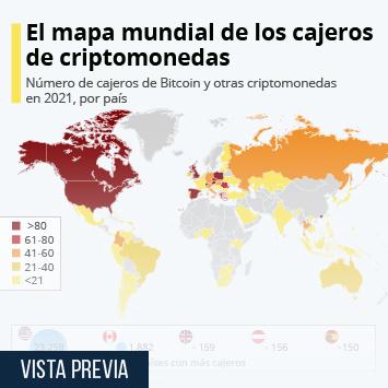 Infografía - ¿Qué países tienen más cajeros de criptomonedas?