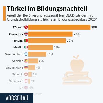 Infografik: Türkei im Bildungsnachteil   Statista
