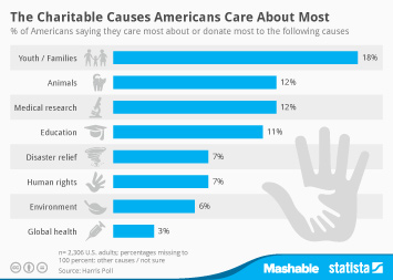 Infographic - Charitable Causes Americans Care About Most
