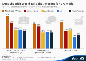 Infographic - Perceived importance of the Internet