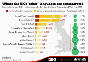 Infographic - Where the UKs other languages are concentrated