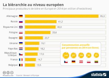 Infographie - La bièrarchie au niveau européen