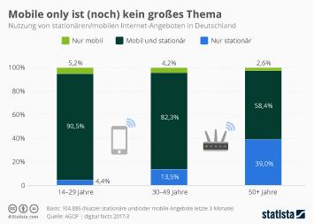 Infografik: Mobile Only ist (noch) kein großes Thema | Statista