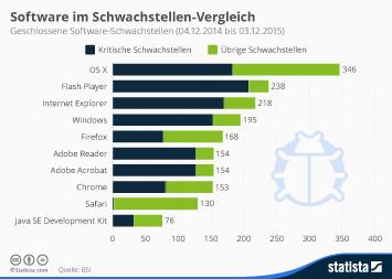 Infografik: Software im Schwachstellen-Vergleich | Statista