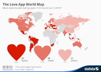 Infographic: The Love App World Map   Statista