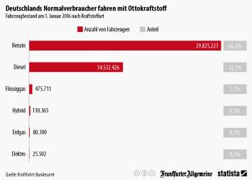Infografik: Deutschlands Normalverbraucher fahren mit Ottokraftstoff | Statista
